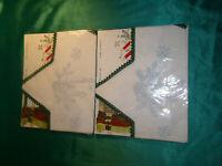 2 x Vintage Stickpackung Weihnachten Deckchen Stern weiß Advent Stickset sticken