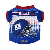 New York Giants NFL Dog Pet Performance Tee Sizes XS-XL