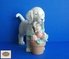 Collectible Lenox A Golden Year of Puppies, Spring Flowers, May Figurine