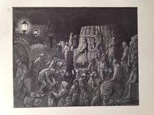 Gustave Dore 1872 antiguo de impresión, Covent Garden Market, mañana, Londres, Inglaterra