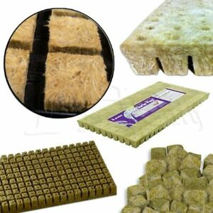 """1 inch Grodan AOK Rockwool Starter Cubes for Hydroponic - 1"""" Sheet of 100 or 200"""