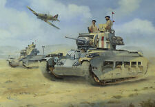 Matilda Tank Hawker Hurricane Desert Army Air Force Fathers Day Birthday Card