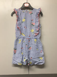 Blue And White Stripe Playsuit Age 2-3 Years