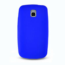 For LG Optimus T P509 Rubber SILICONE Soft Gel Skin Case Cover Dark Blue