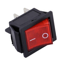 On-Off  AC 110V-220V 2 Position 4 Pin Power Control Boat Rocker Switch Red Light