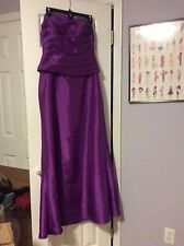 Jade, by Jasmine, 2 pc. Purple Evening Gown, Size 10, gown, with Shaw/Jacket.