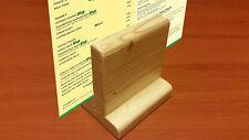 Porta-menù in legno realizzato a mano artigianale