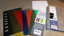 Franklin Covey Classic Day Timer Desk Note Dividers Pockets 7 Ring Refill Lot 8