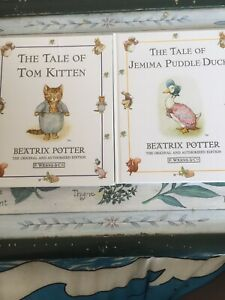 2 X Beatrix Potter -The Tale of Jemima Puddle-Duck/Tale Of Tom Kitten 2002 Hb
