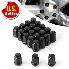 """23 Black Lug Nuts 1/2""""-20 Bulge Acorn for Jeep Wrangler JK TJ YJ CJ KJ ZJ MJ XJ"""