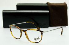 NEW PERSOL Prescription Eyeglass Frame 51mm SQUARE TORTOISE PO3146V 108 Havana