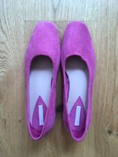H&M Pink slip on suede pumps 39 NEW