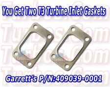 Two Stainless Steel Turbocharger Inlet Gaskets fits: T3, GT35 PN: 409039-0001