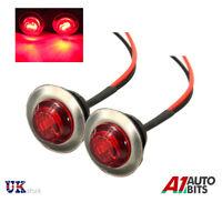 2 pezzi 24V 3 LED Posteriore Lato rosso cromo luci di ingombro fari per camion