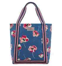 CATH KIDSTON BLUE POPPY SPOT REVERSE PVC COATED COTTON TOTE SHOPPER BAG+GIFT BAG