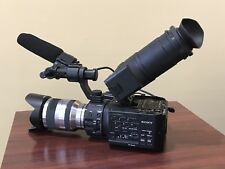 Sony NEX-FS100 Flash Media Camcorder ONLY 70 Hours!!! With Extras!!