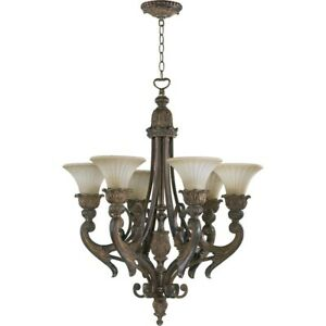 Quorum Madeleine 6 Light Chandelier, Corsican Gold - 6230-6-88