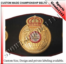 WBA Boxing Replica Championship Belt 4 Metal Plates Black Artificial Leather 48""