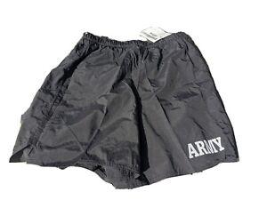 IPFU Shorts Size Medium PT Army USGI NWT Black incorrectly tagged large.