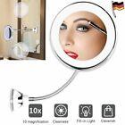 LED Schminkspiegel mit 10-fach Vergrößerung Badezimmer Kosmetikspiegel +Saugnapf