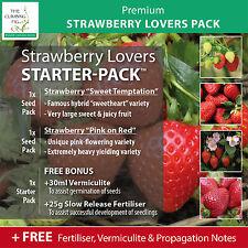 STRAWBERRY Lovers Starter-Pack™ includes 2x seed packs, fertiliser & vermiculite
