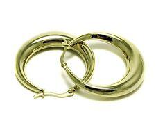 Hoop Earrings Ladies Yellow Stainless Steel Huggie Womens Fashion Jewelry Cute