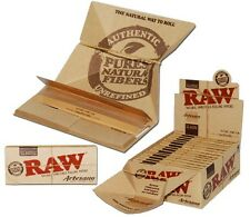 """RAW """"ARTESANO""""  King Size  Cigarette Rolling Papers with tips and Tray"""