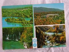 Yugoslavia POSTCARD Plitvicka Jezera Vtg 90 Rare STAMPS