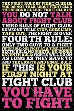 Eight Rules of the Fight Club fea. Brad Pitt and Edward Norton, 24x36