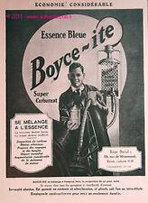 Publicite POMPE DISTRIBUTEUR ESSENCE BOYCE-ITE station service 1926 PUB ad