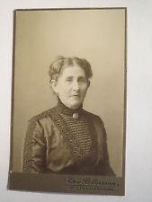 Askersund - Frau Adeline Malmsten im Kleid / CDV