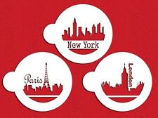 Paris, London and New York Skyline Cookie Stencils by Designer Stencils #C716
