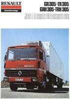 Renault GR305 TR305 GRH305 TRH305 Prospekt 1979 8/79 LKW brochure truck camion