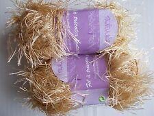Tendance fancy knitting yarn, eyelash, beige, lot of 2