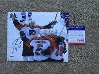 Jeremy Roenick Autograph Signed Flyers 8x10 Photo COA PSA/DNA