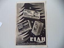 advertising Pubblicità 1947 ELAH CUBIK/GHIACCIO MENTA/BUDINO