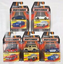 5 CAR COMPLETE SET CASE B 2017 BEST OF MATCHBOX PORSCHE, ALFA BLAZER *IN HAND*