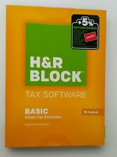 H&R Block Federal Tax Software Windows   2015 Basic Edition  New in Box