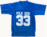 Married With Children Al Bundy #33 Polk High American Men's Football Jersey Sewn
