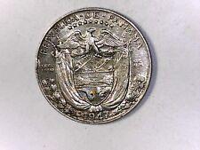 PANAMA 1947 1/4 Balboa Silver UNC