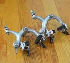 Vintage Campagnolo Early Super Record Brake Calipers Flat QR Lever
