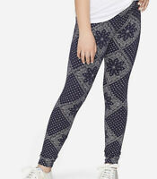 Justice Girls Size 12 French Navy Pattern Leggings New with Tags