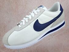 Nike Cortez Basic Nylon White Blue Athletic MISMATCH Left - Sz 12 Right- Sz 11.5