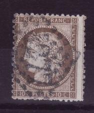 1870 Cérès Siège de Paris 10c bistre-brun 36a-Léger piquage à cheval 08-020.14