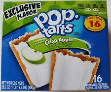 NEW Pop Tarts Toaster Pastries Frosted Crisp Apple 16 Count FREE WORLD SHIPPING