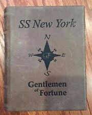 SS NEW YORK  BROWN FAUX LEATHER DISPLAY BOOK FOR YOUR  SSNY SHIPWRECK COINS