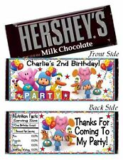 12 Pocoyo Birthday Party Baby Shower Candy Hershey Bar Wrappers Favors