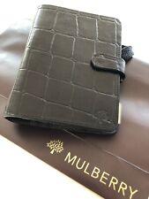 Stunning Mulberry Agenda Organiser Filofax In Black Congo Leather Brand New