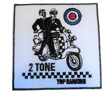 NEW 2 Tone Top Ranking SKA Scooterist Iron/ Sew On Embroidered Cloth MODS Patch