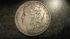 1879's Morgan silver Dollar in XF to AU condition,NICE TOUGH DATE.COMB. SHIPPING